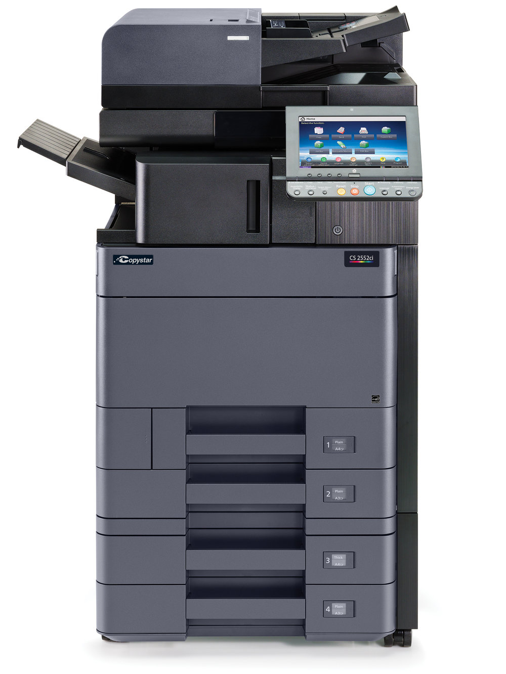 The CS 2552ci with internal finisher and 2 x 500 sheet cassettes