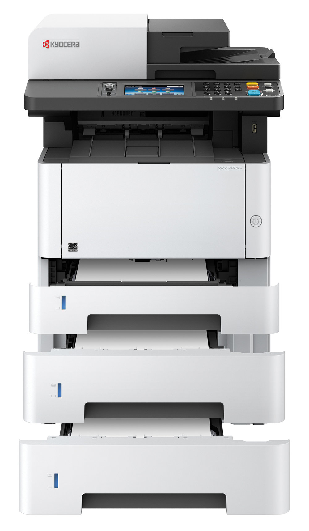 The Ecosys M2640idw with x2 optional 250 sheet cassettes