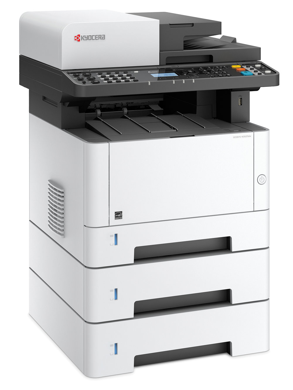 The Ecosys M2635dw with x 2 optional 250 sheet cassettes