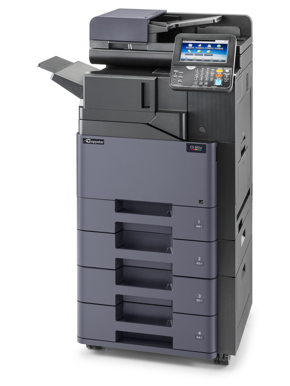 The CS 307ci with internal finisher and 2 x 500 sheet cassettes