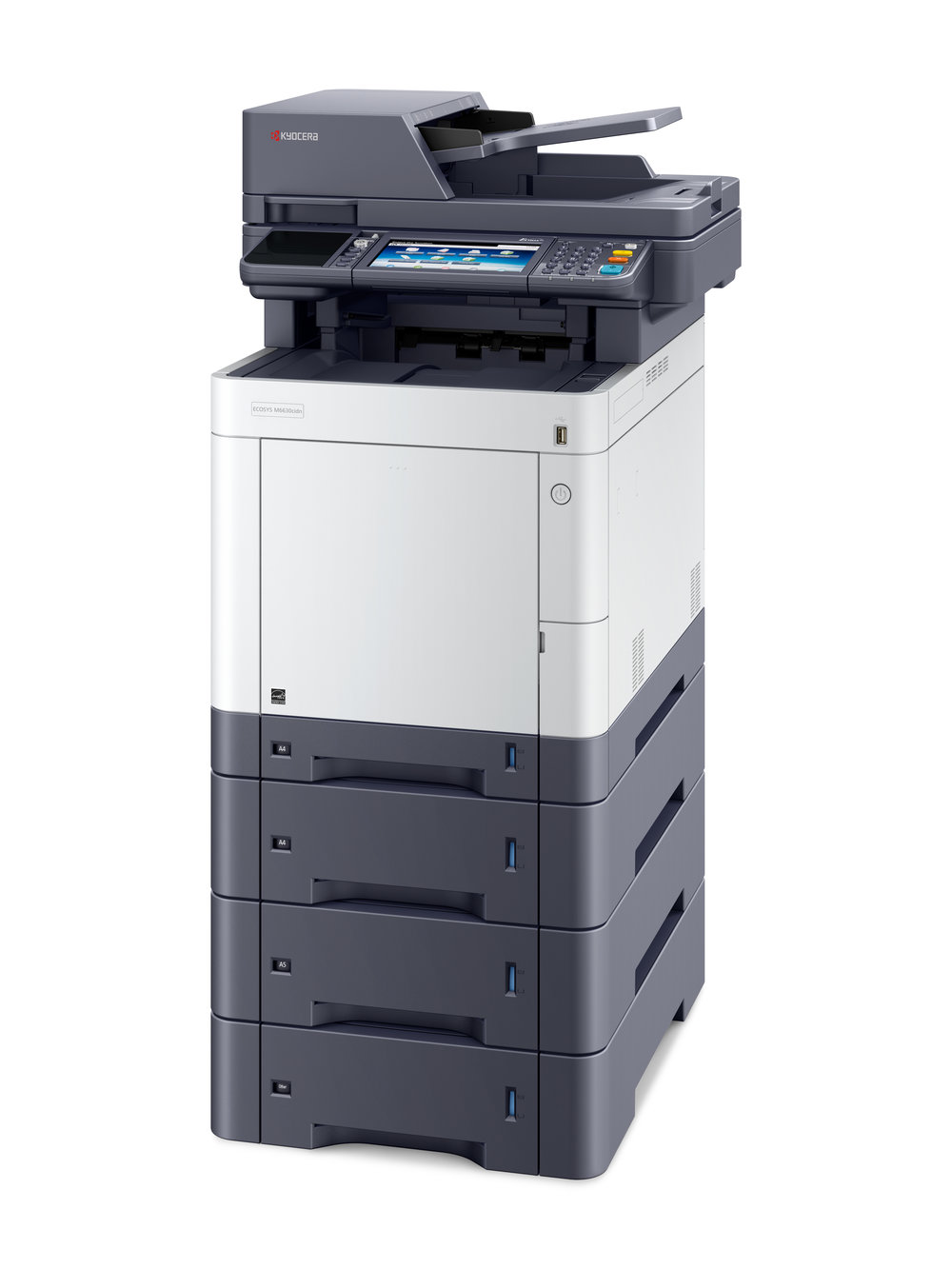 The Ecosys M6630cidn with x 3 optional 500 sheet cassettes