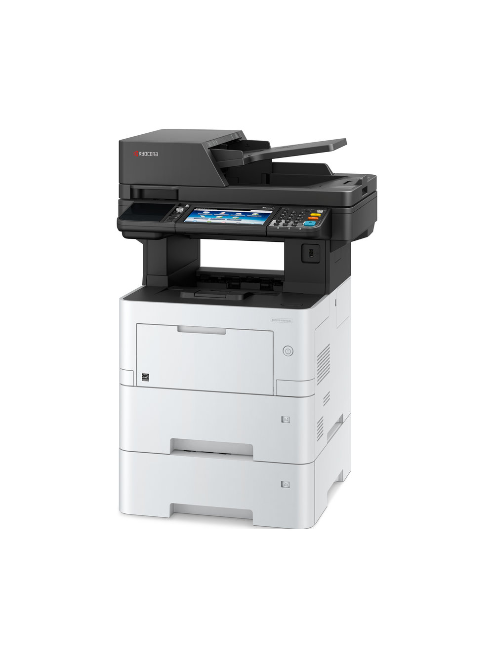 The Ecosys M3645idn with optional 500 sheet cassette