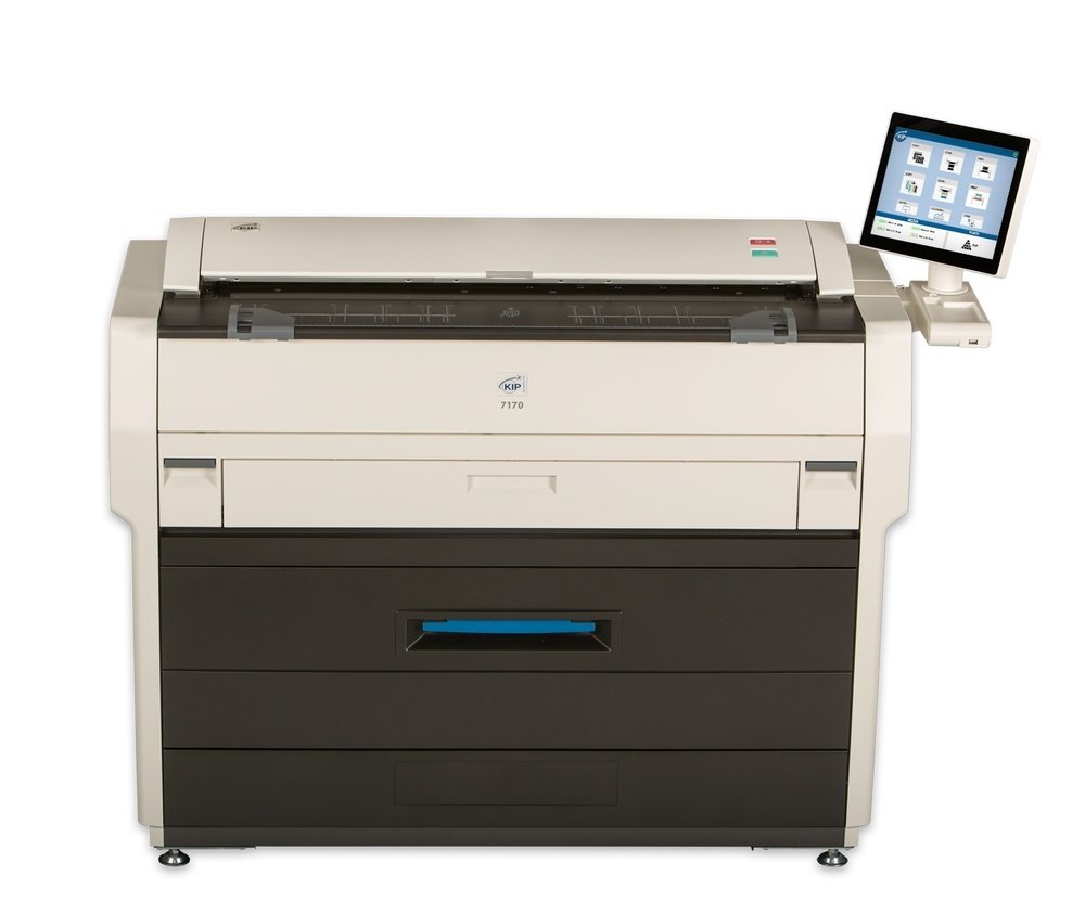 The KIP 7170 with System K and 2 integrated rolls