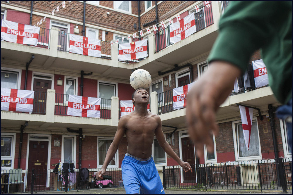 2018 world cup fans on a south london estate