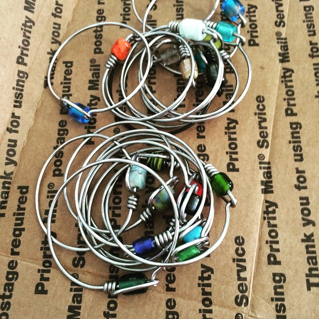 A fresh box of Spokentwo bracelets are here! #bicycle #spokes #Spokentwo #stjohn #stj #usvi #virginislands #vi #caribbean #wastedsun