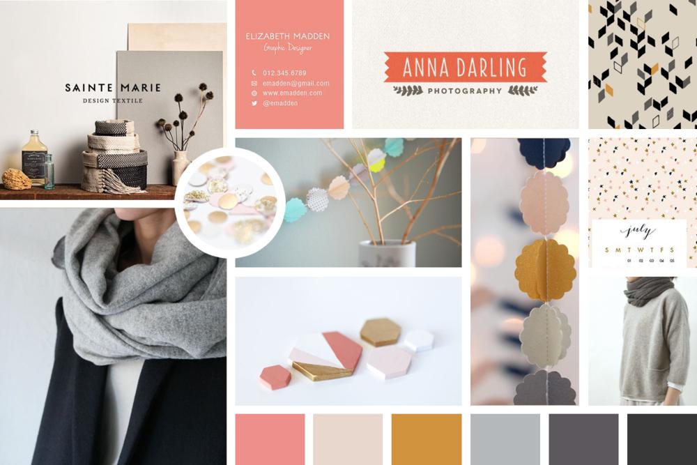 Interior Decorating Mood Board Anna Darling Photography Hexagon Scarves  Design Textile