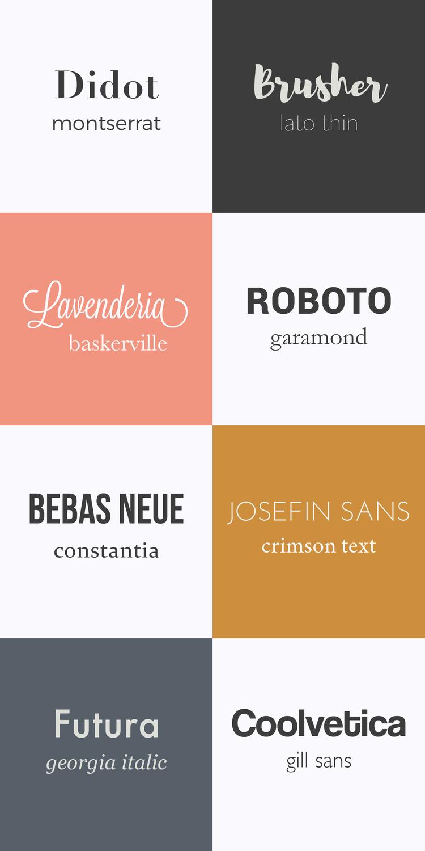 Hulp bij het kiezen van de lettertypes van je blog. Een aantal font-combinaties voor blogs en websites.