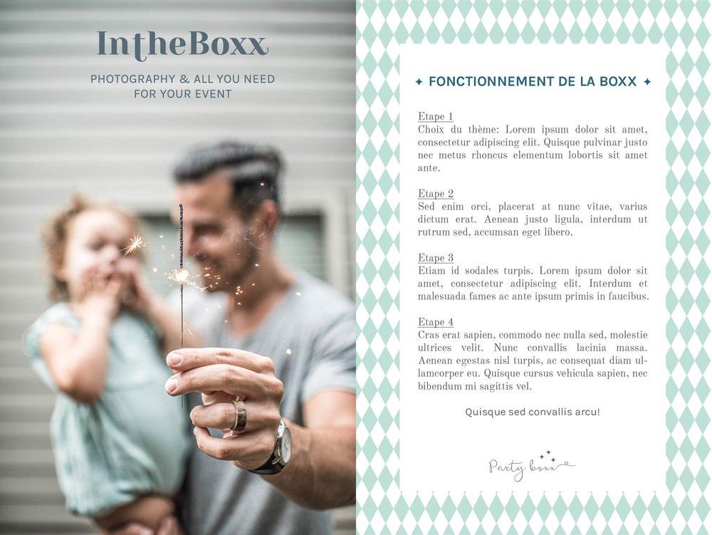 Fiche modèle InTheBoxx Identité visuelle par Hello Nobo