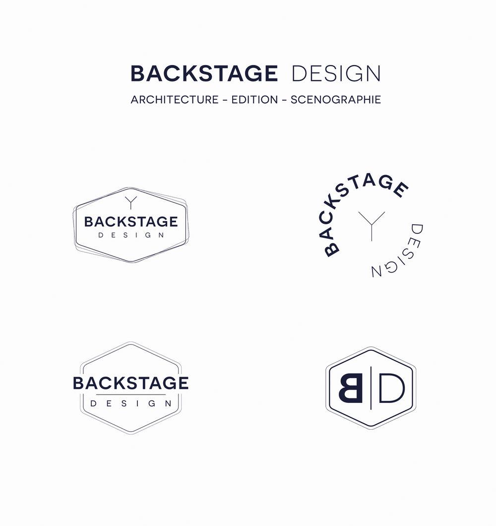 logo Identité visuelle Backstage Design Architecture Edition Scenographie par Hello Nobo