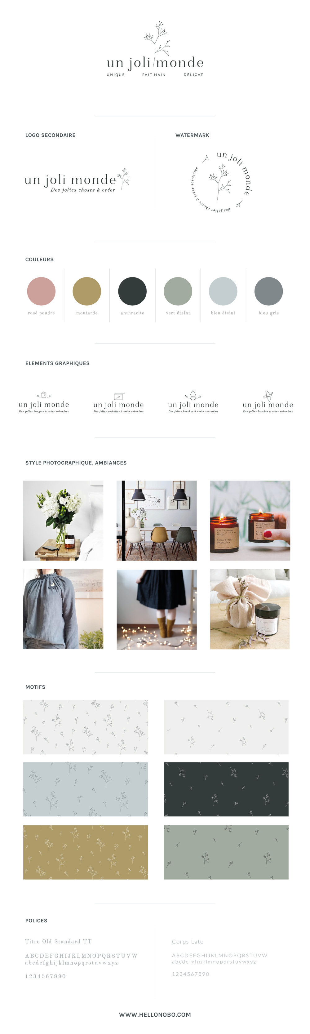 Brand Board Un Joli Monde by Hello Nobo