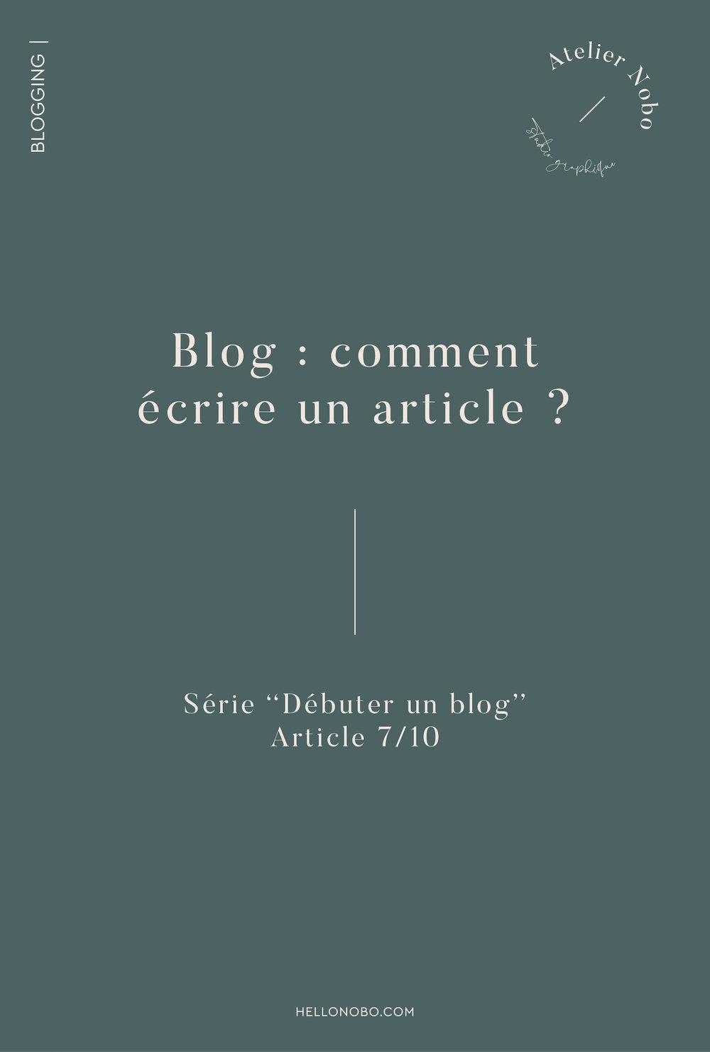 comment écrire un article - Hellonobo.com