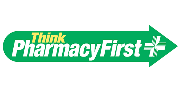 The logo of the Think Pharmacy First scheme,  available in some areas of North East England.