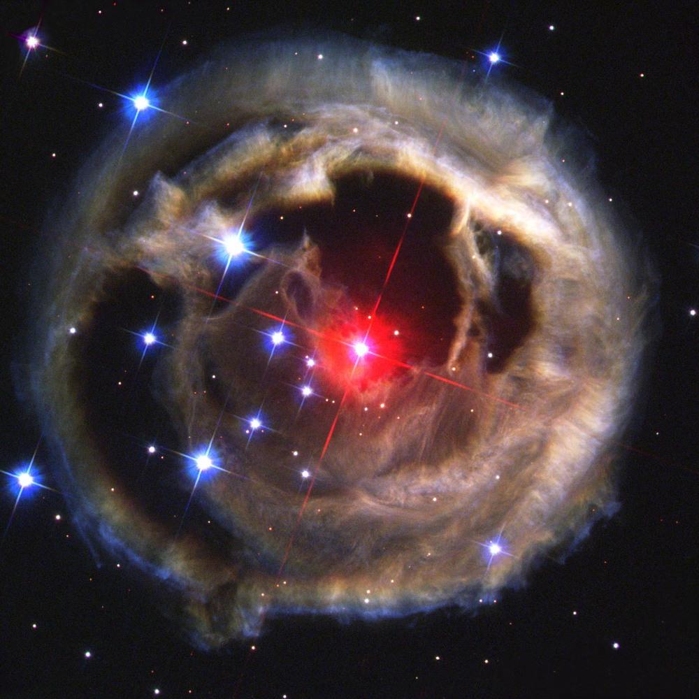 Star V838 Monocerotis     - taken by the Hubble Space Telescope 2002