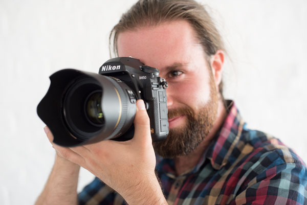 Me trying out the new Nikon D850