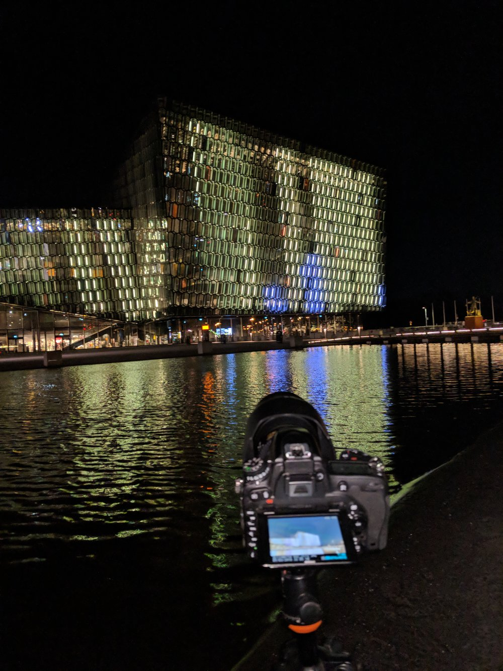 Harpa at night