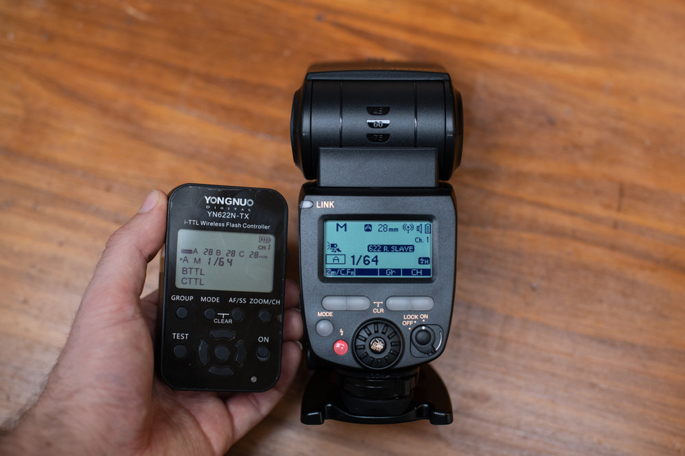 The i-TTL Wireless Flash Controller YN622N-TX (left) and YN685 Speedlite (right) are fully compatible