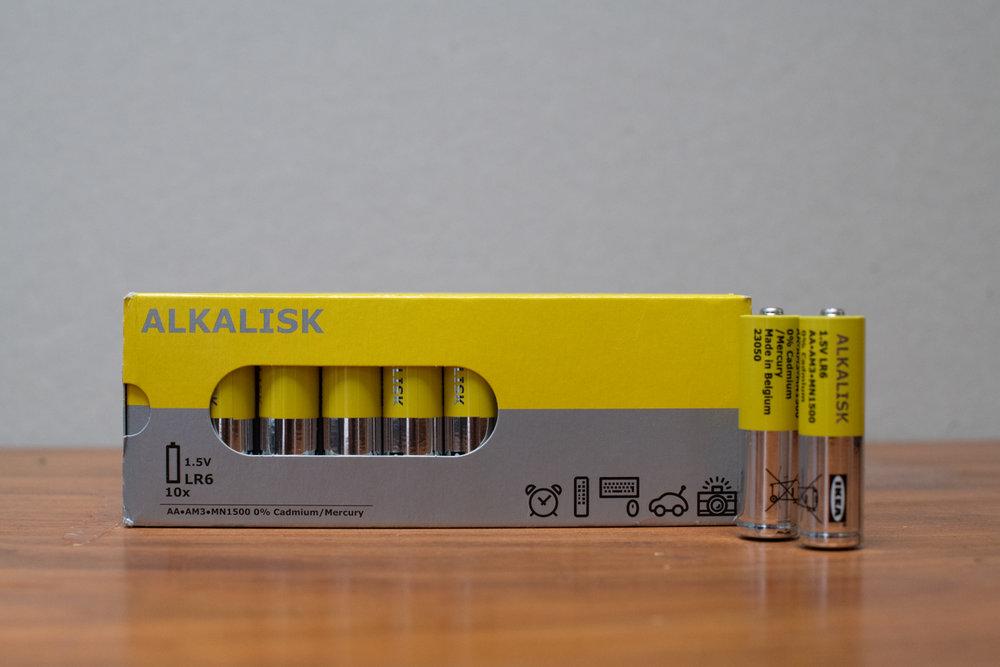 IKEA Alkalisk AA batteries