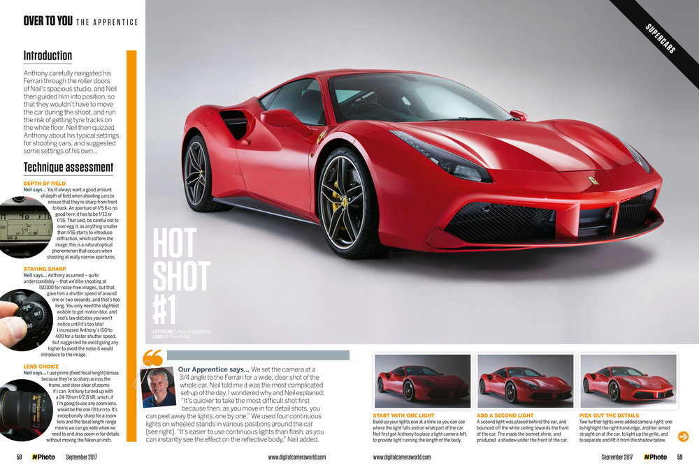Feature on studio-lit automotive photography