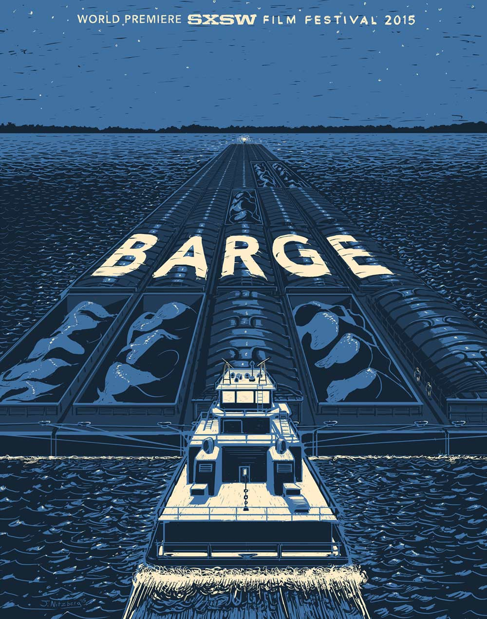 Barge Poster | BS Powell | Screenprint