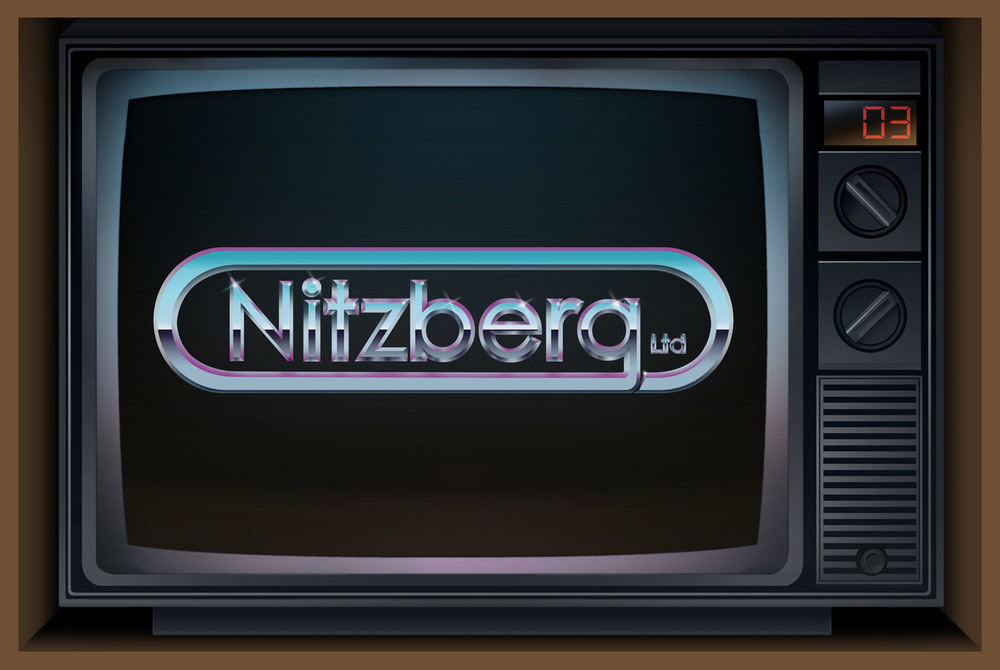 Nitzberg Ltd. Retro Chrome Logo | Photoshop