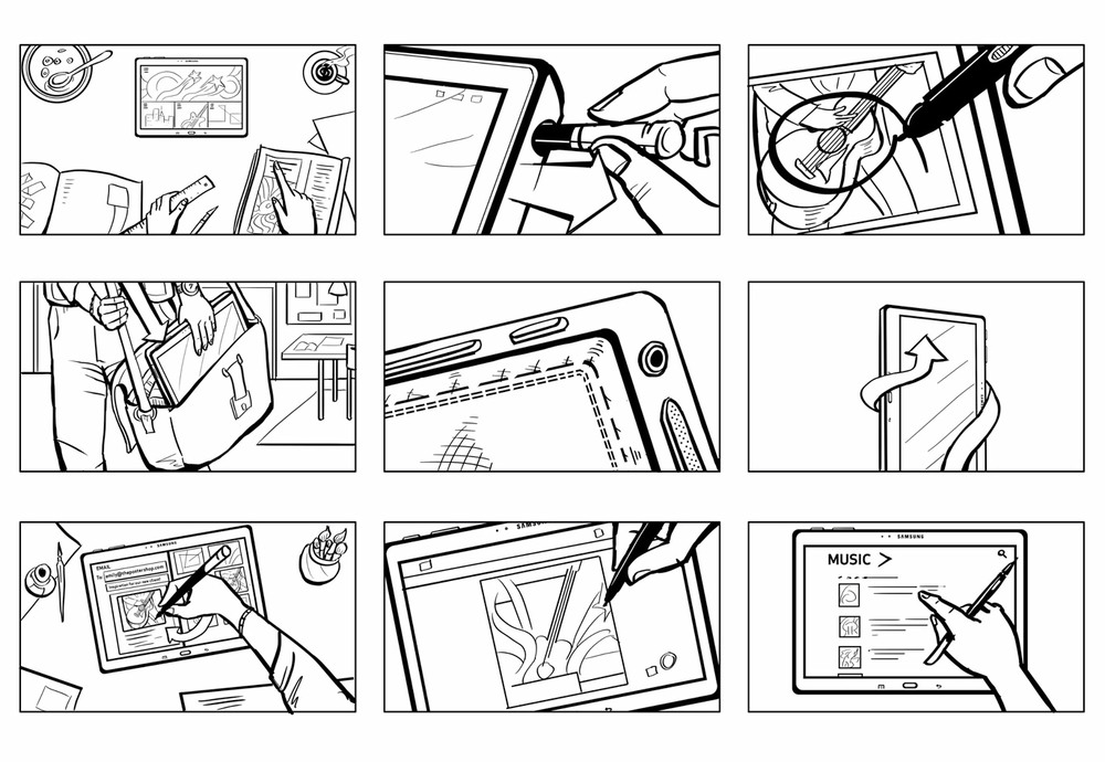Tablet Stylus Detail Storyboards | Digital Ink