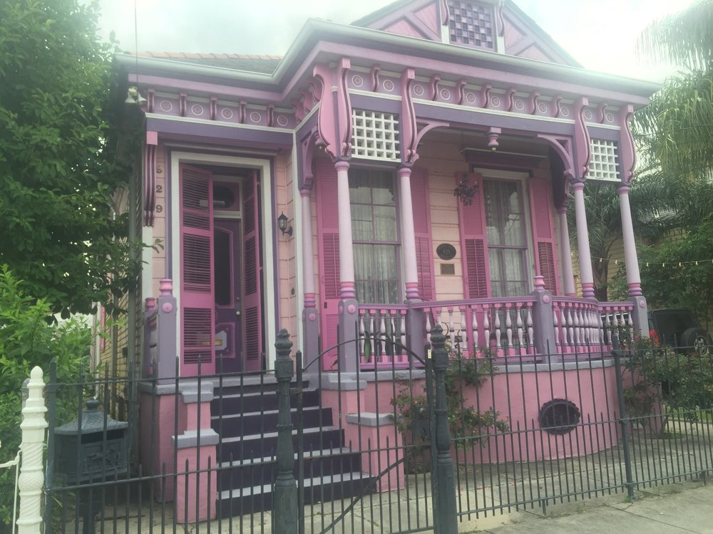 Our house in the Marigny, the Painted Lady