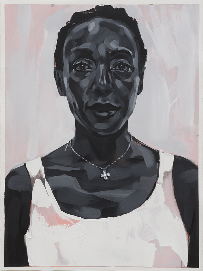 "Rebecca Campbell, Mpambo, 2015, acrylic on paper, 30"" x 22"""