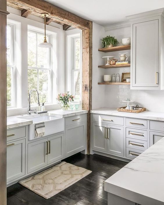 MODERN FARMHOUSE  - Kitchen by Cutting Edge Homes // Hardware by Edgecliff