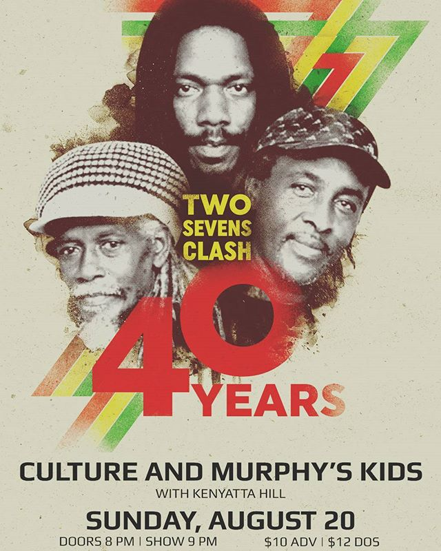 This Sunday in Richmond at the broadberry! The Legendary CULTURE w/ burning fire and @murphyskids!