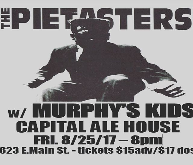 What's happening party people!?! It's going down this Friday at #capitalalehouse ! Murphy's Kids opening a night of ska, reggae, and soul featuring DC's finest The Pietasters! The deal goes down 7-11 so get there early and be ready to dance!  #rvashows #rvaska #murphyskids #rva #thepietasters