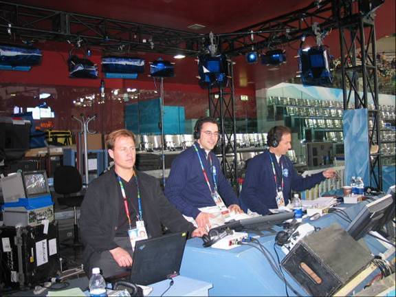 Working the booth - myself, Dan Wienstein, Ted Robinson