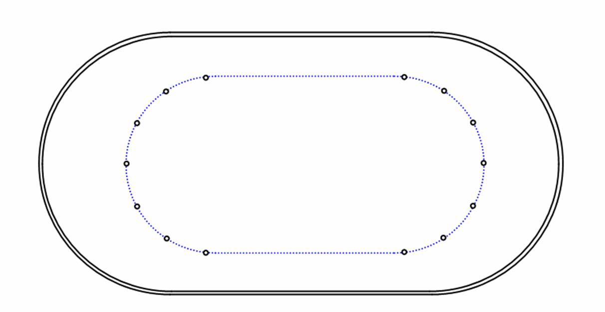 Short track rink layout