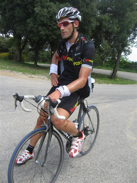 George Hincapie on the top of Els Angeles, Girona, Spain