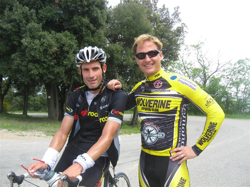 George Hincapie & John Coyle, Girona, Spain May 2008