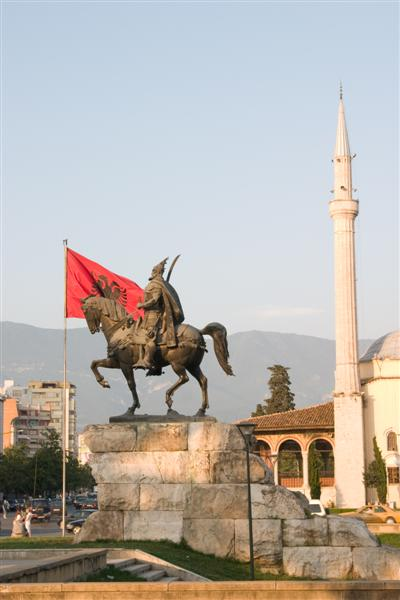 The Mosque and Skanderbeg Square