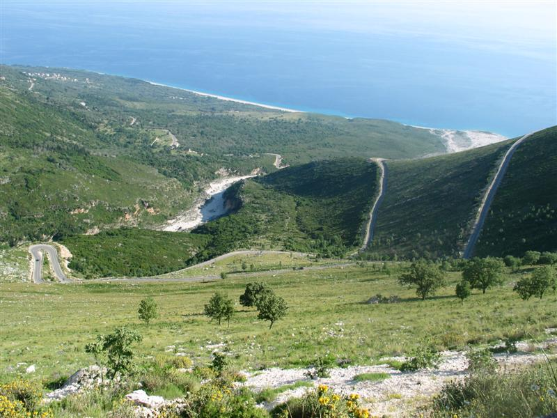 the coastline and switchbacks 1 and 2