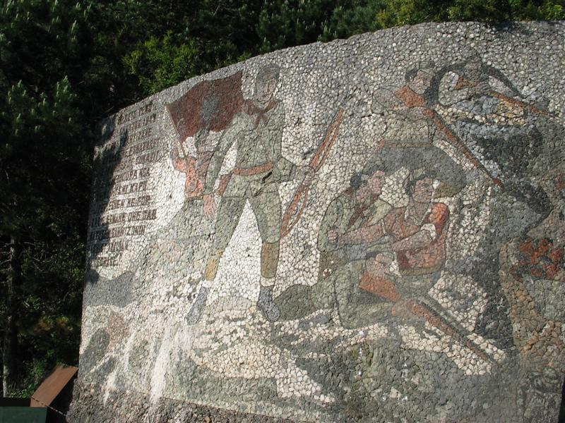 Communist Mural on Llogara pass