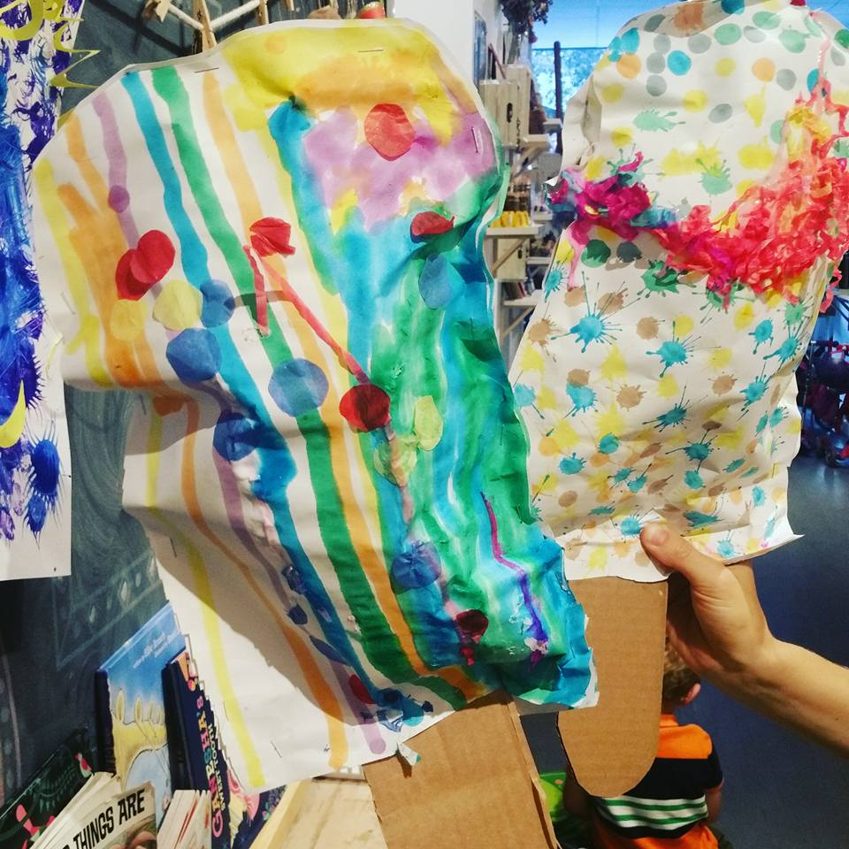 Claes Oldenburg inspired paper sculptures.