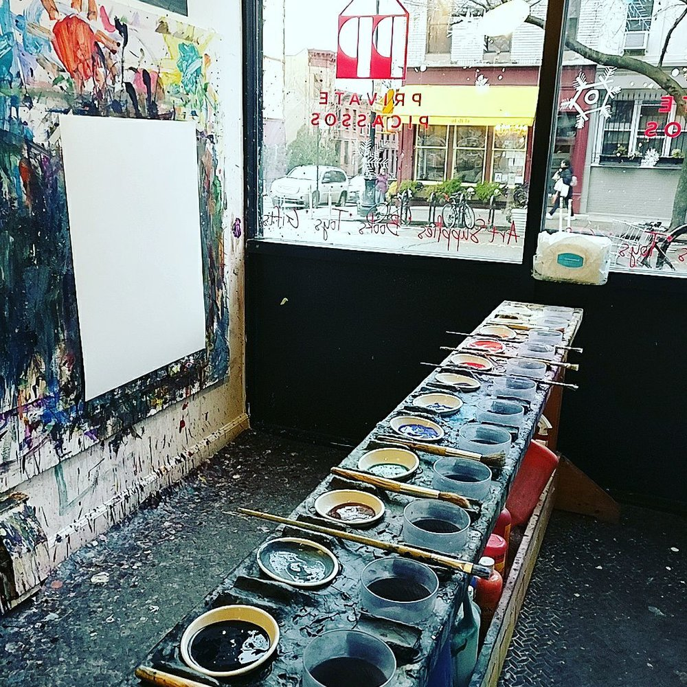 Our large-scale painting palette.