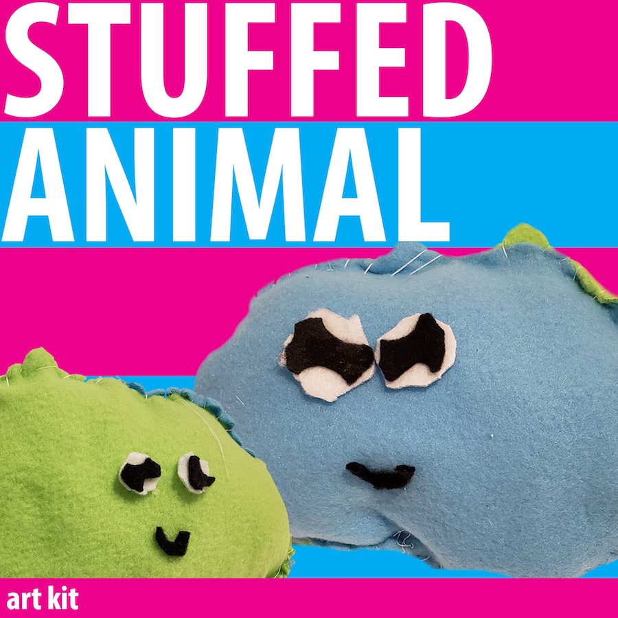 Contains colorful fleece, stuffing, needle and thread to create your 3D masterpiece! Please note this project is best for kids over the age of 5.