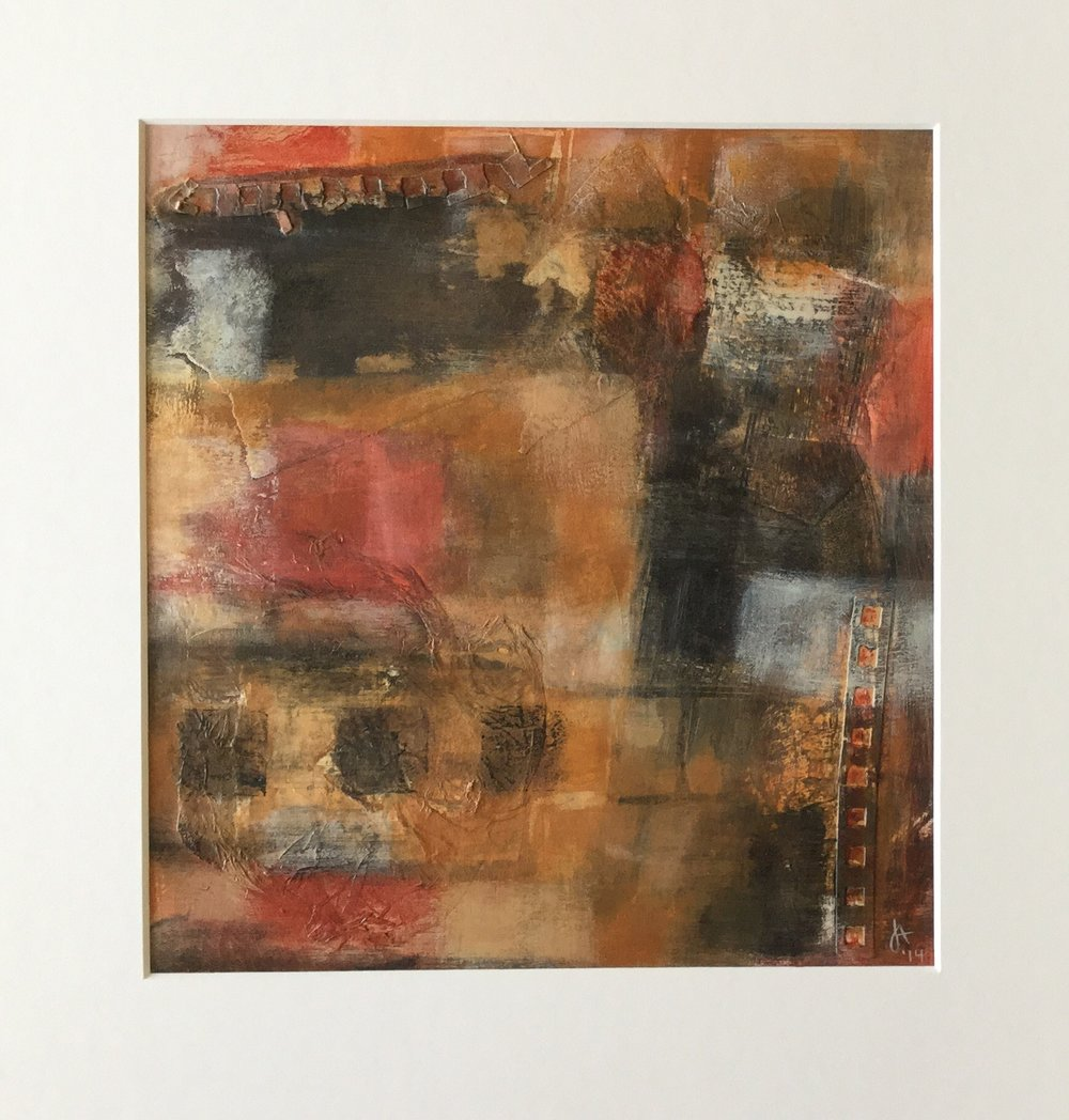 Jo Ansah    Harrisonburg, VA    Mixed Media     Member Since November 2017    Jo Ansah is a mixed media artist from Harrisonburg, Virginia.  She creates abstract, non- representational compositions by combining a variety of art supplies with discarded materials.  She has exhibited her work in numerous group and juried shows around the state.