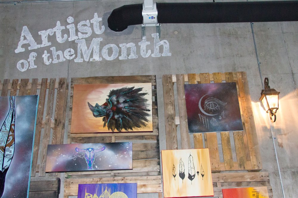 Artwork at FFDT venue Three Notch'd Brewing Co., 2014