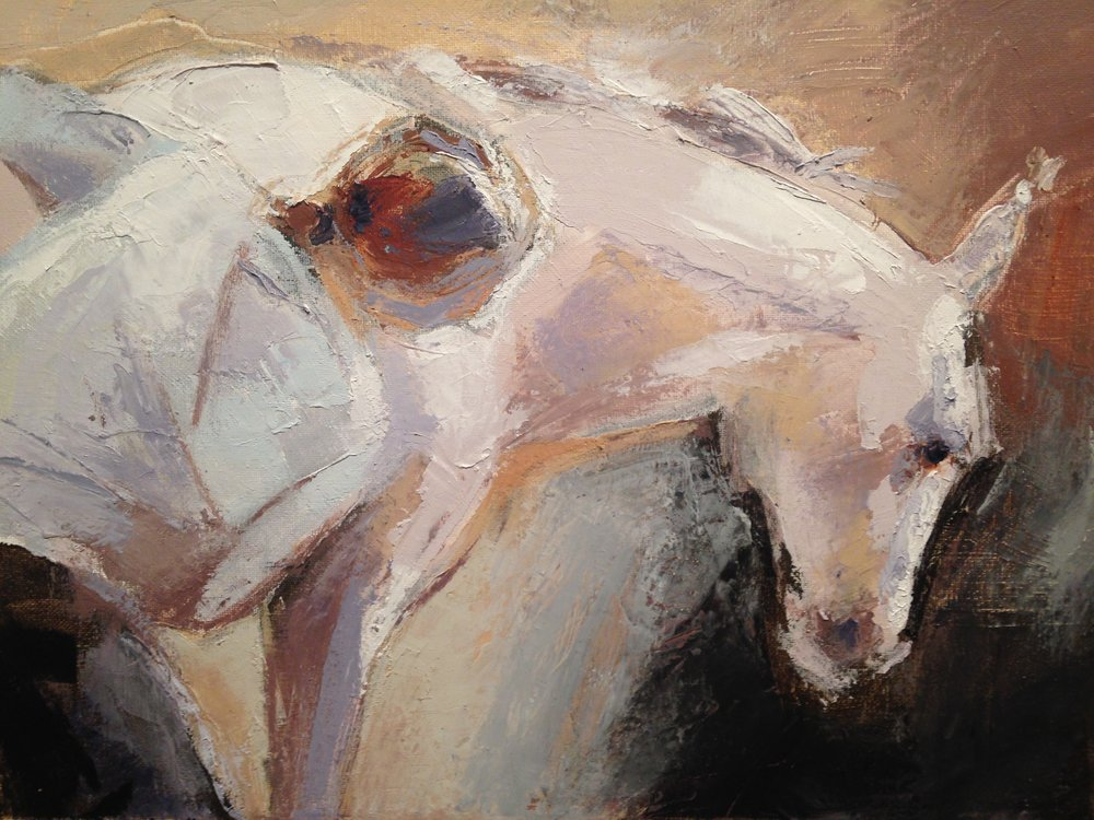 Julia Merkel    Keezletown, VA    Oil Paint     Website    Merkel is a figurative abstract expressionist oil painter of primarily four legged subjects, but her background in sculpture and book arts occasionally lead her toward large drawing installations and artists' books.
