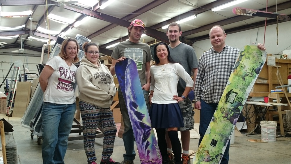 Picking up my CUSTOM HALFPIPE BOARD from Donek Snowboards