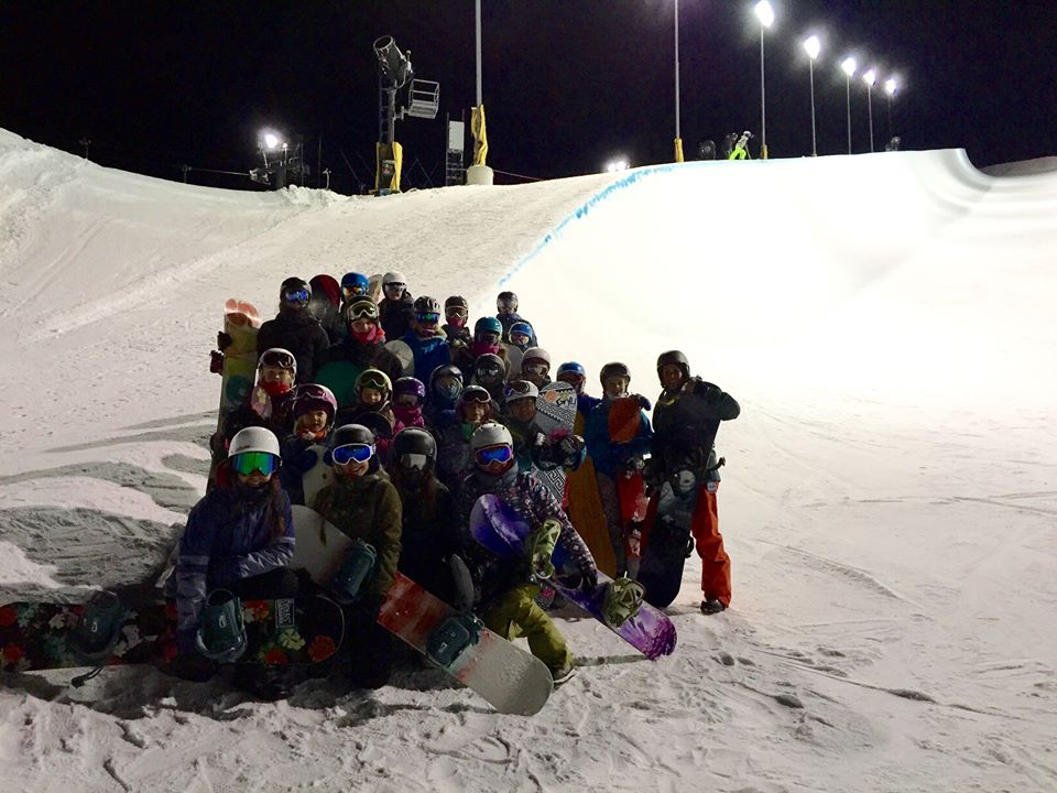 Halfpipe Clinic with Riders On Board Girl's Crew