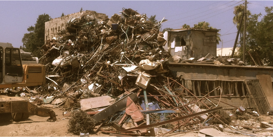 Photo of a scrapyard in Lebanon.