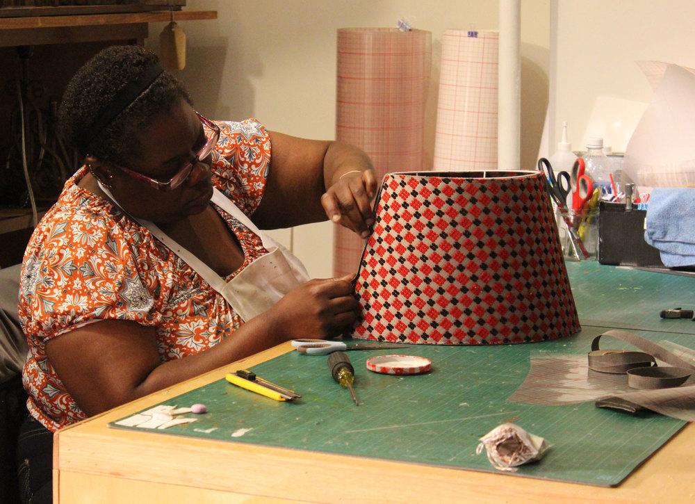 Lorraine at work