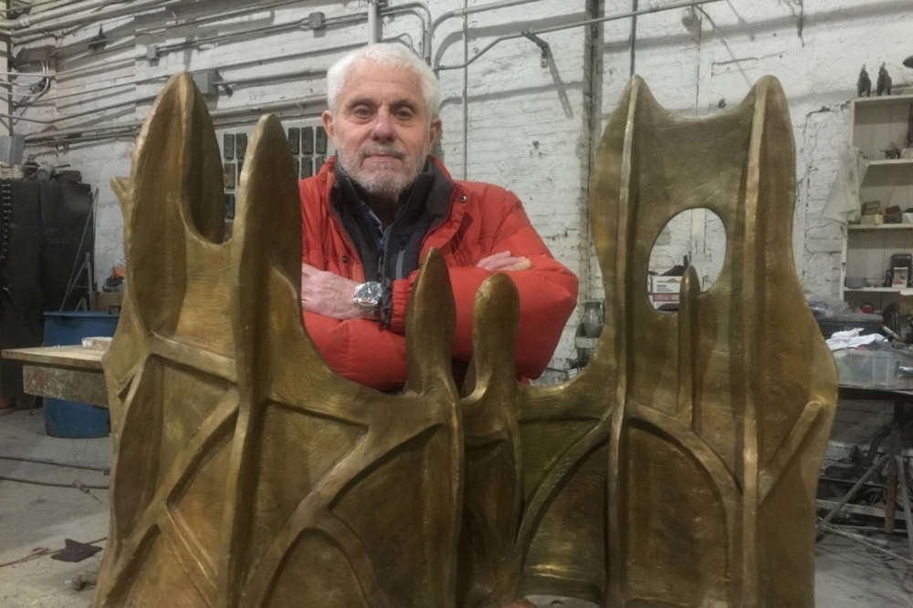 Richard Barnet at his foundry.