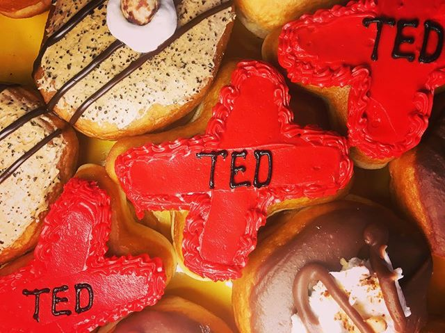 TEDx Fargo is back! We found some tasty donuts at @sandys.donuts while hosting a TEDx Adventure this morning... . . #tedxfargo #ilovefargo #downtownfargo #donuts #pastrylife #pastry #fargo