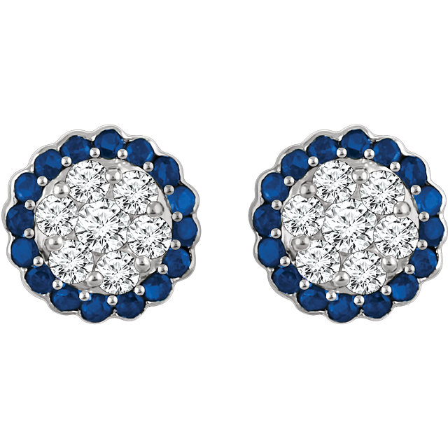 6cebb7a4e 14kt White Blue Sapphire & 5/8 CTW Diamond Earrings — Design Studio ...